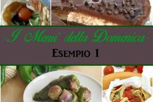 Menu' per il pranzo della Domenica-esempio 1