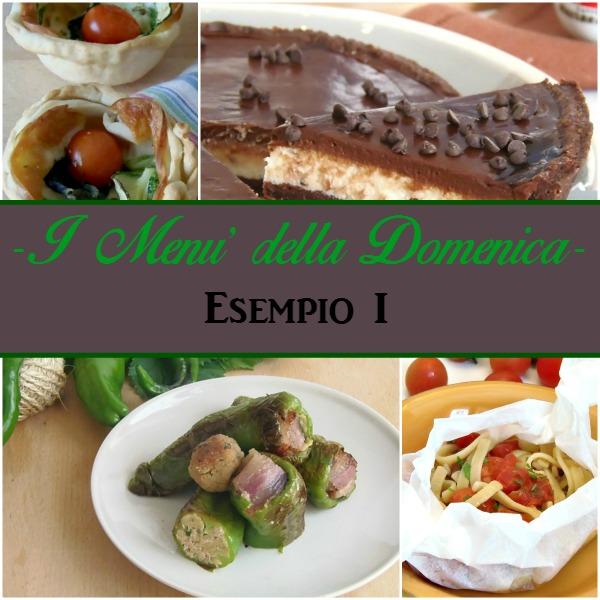 Menu 39 per il pranzo della domenica esempio 1 - Menu per ospiti a pranzo ...
