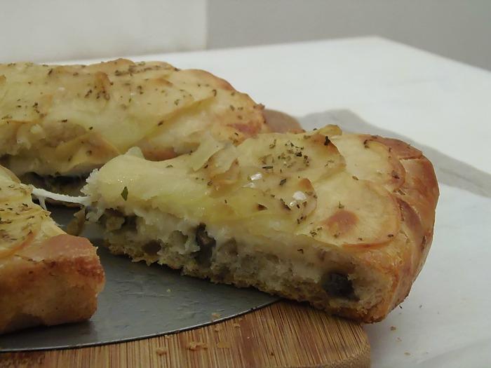 Torta Girasole alle Patate e Mozzarella