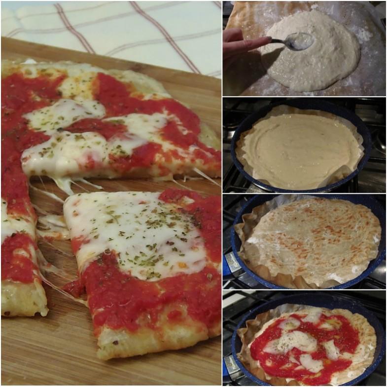 Pizza con impasto alle patate in padella