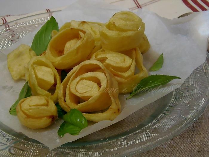 Patate Fritte a forma di rosa