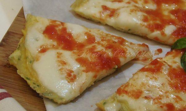 Pizza di Frittata alla mozzarella