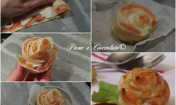 Rose di Salmone da antipasto o buffet salato