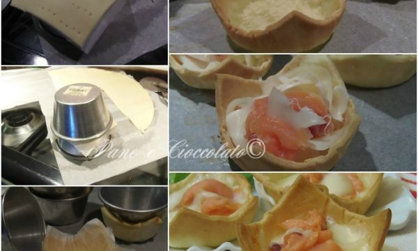 Cestini di Salmone e Mozzarella facilissimi