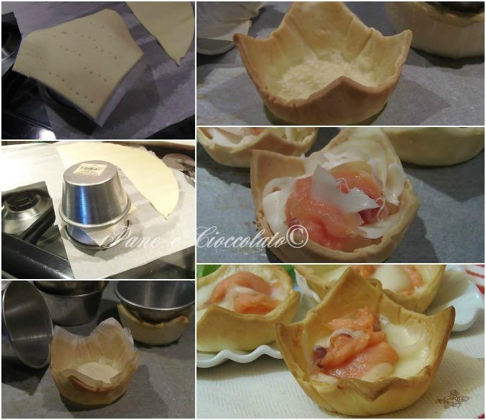 Cestini di Salmone e Mozzarella ricetta cenone ricetta antipasto cenone