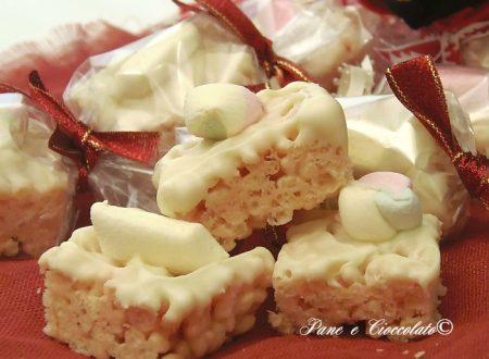 Cioccolatini ai marshmallows  e cereali dolci per la befana