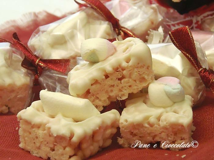 Cioccolatini ai marshmallows e cereali dolci
