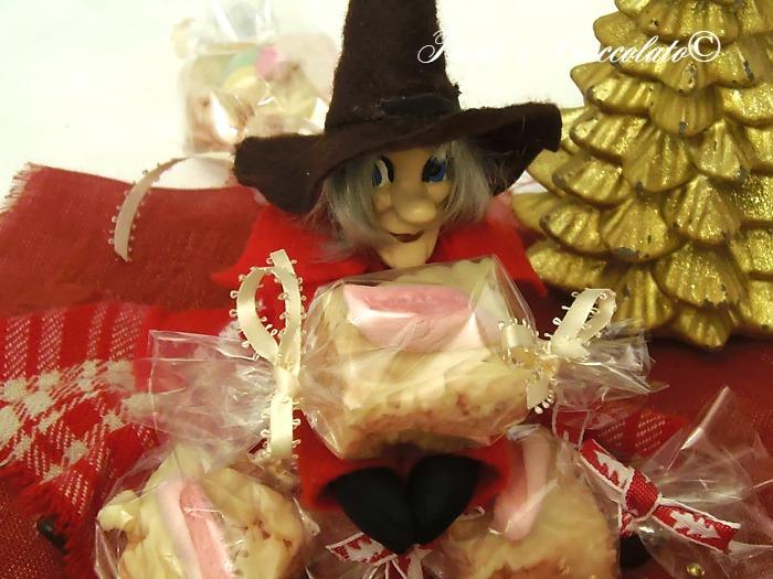 Cioccolatini ai marshmallow  e cereali dolci per la befana ricette facili