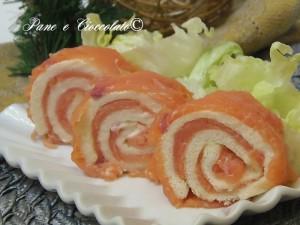 Rotoli di Salmone antipasto natalizio ricette per la Vigilia