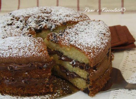 Torta Gocce Cioccolato e Nutella 10 cm