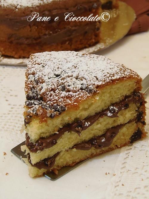 Torta Gocce Cioccolato e Nutella