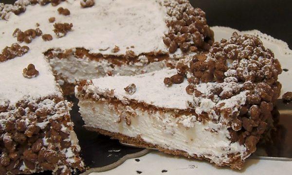 Cheesecake Bianca al Riso Soffiato e nutella senza forno