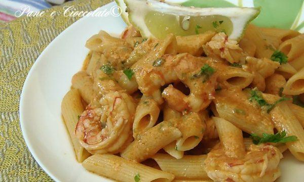 Pennette ai Gamberi profumate al Limone Pasta and Shrimp