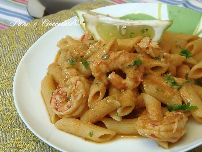 Pennette ai Gamberi profumate al Limone ovvero Pasta and Shrimp