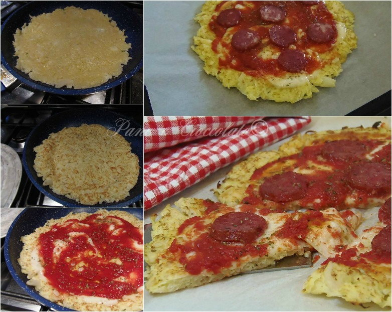 pizza cavolfiore collage