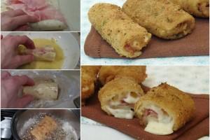Rotoli di Piadina prosciutto e mozzarella