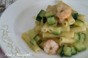 Maccheroni gamberi e zucchine