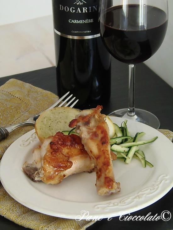 Pollo arrosto con Zucchine