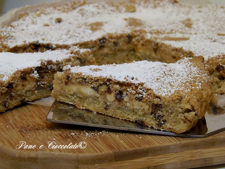 Torta Crostata ripiena al cioccolato bianco