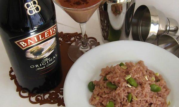 Risotto al vino e Baileys Shakerato