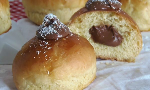 Bomboloni Cocco e Nutella al forno