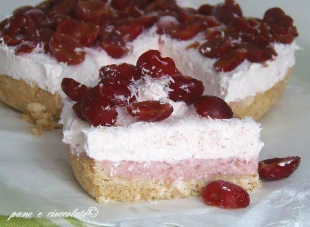 Torta fredda ciliegie e cocco