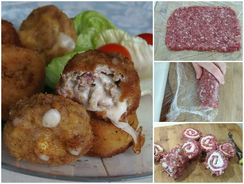 rollini di carne macinata e mozzarella