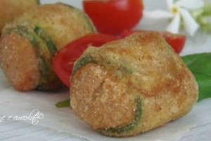 Bocconi di Zucchine e mozzarella