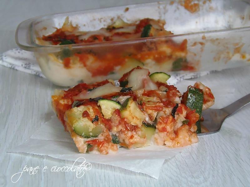 Pizza di patate e zucchine rossa