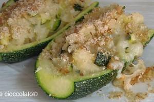 Barchette di Zucchine e patate gratinate