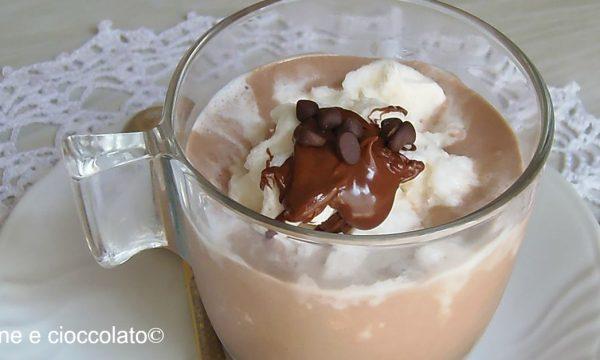 Crema al caffè e nutella con granita al latte