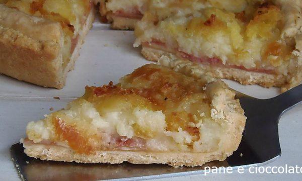 Crostata patate e prosciutto senza uova