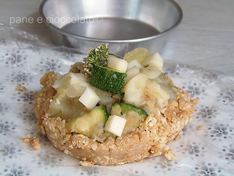 Crostata di patate e zucchine senza forno