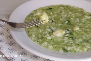 Riso zucchine philadelphia e mozzarella