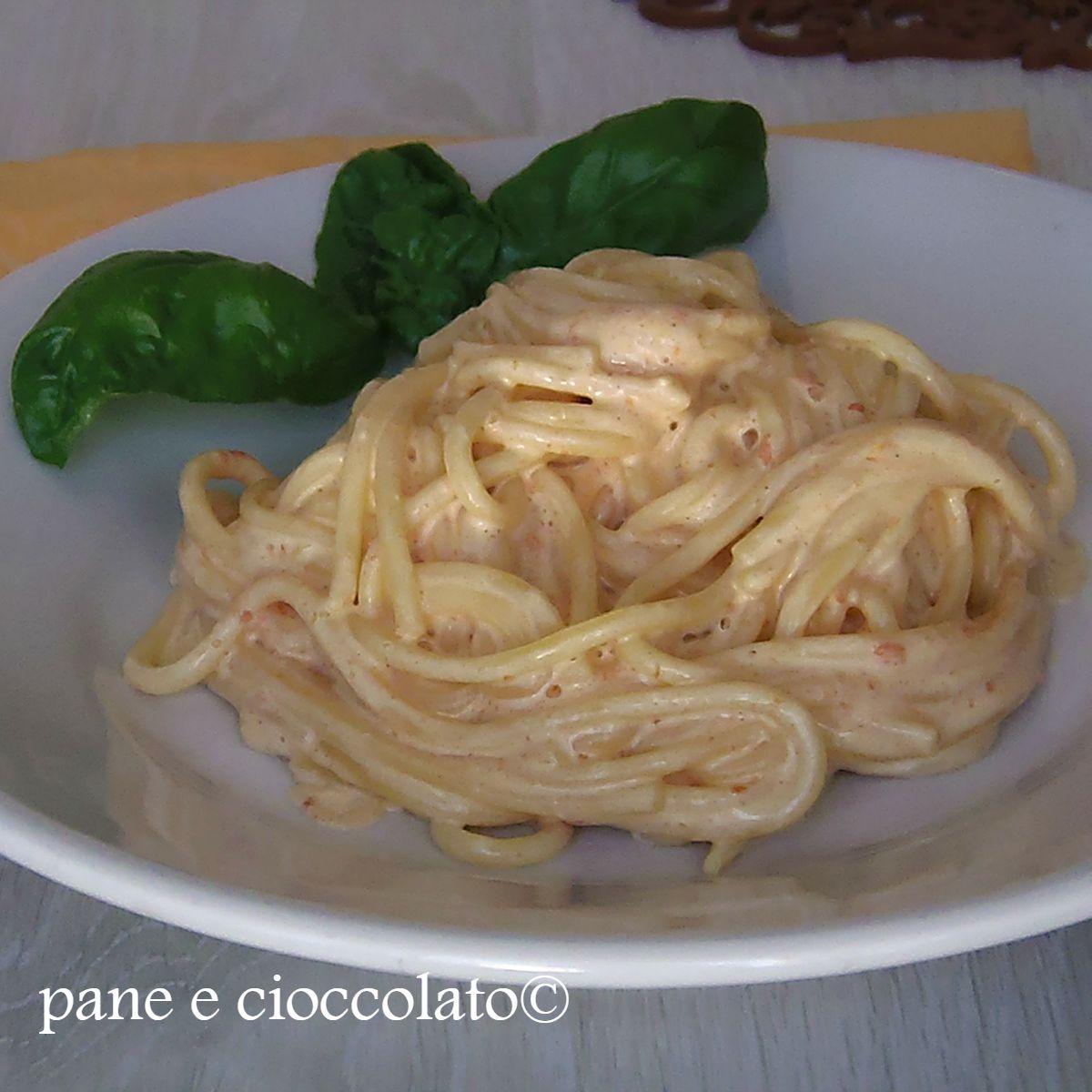 Spaghetti poche calorie cremosi ma senza panna