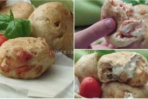 Bomboloni di patate stracchino e pomodoro
