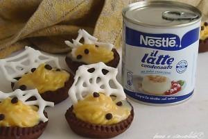 Crostatine di crema pasticcera al latte condensato