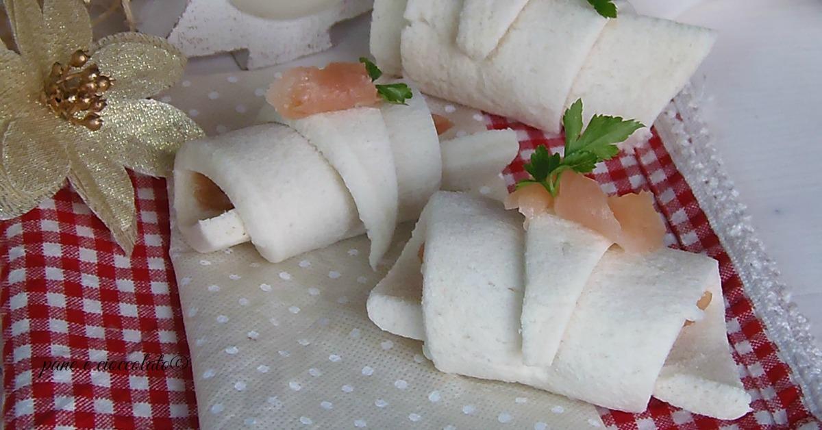Cornetti di pancarre al salmone