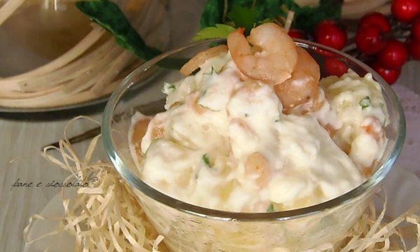 Insalata cremosa di Gamberi e patate