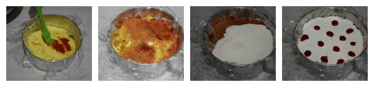 collage torta fragola