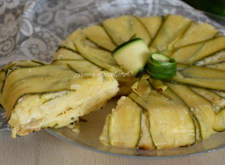 Torta rovesciata di patate e zucchine