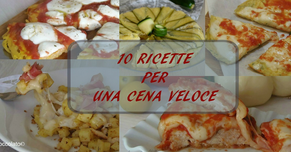 Ricette cene veloci con foto ricette utili della cucina for Ricette italiane veloci