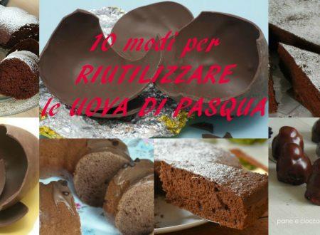 Riciclare il cioccolato che avete in casa