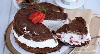torta nutella e fragole