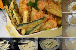 Zucchine in pastella con Ricetta pastella leggera