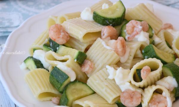 Ricette estive di Pasta fredda zucchine e gamberi