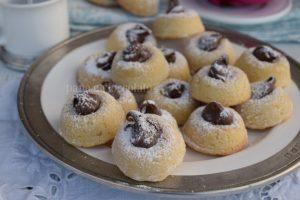 Biscotti di pasta frolla savarin nutella