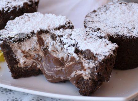 Tortine fredde senza cottura al cuore di nutella