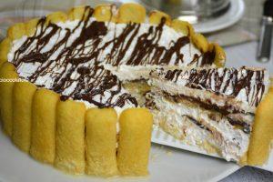 Torta fredda nutella e pavesini