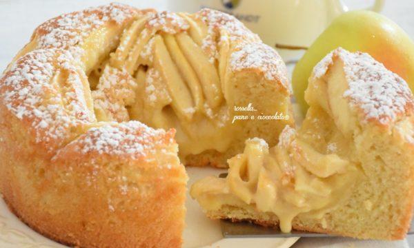 Torta di mele alla crema